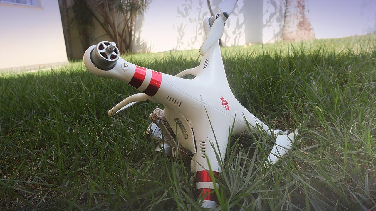 acidentes com drone